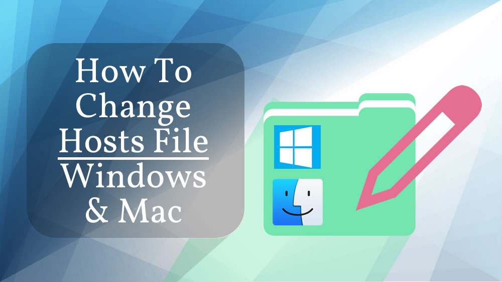 How to change hosts file