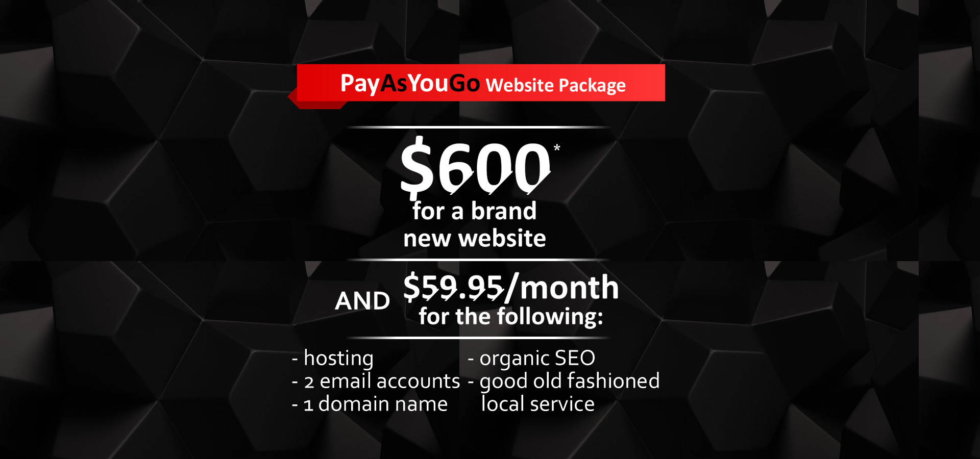 PAYG Website Package